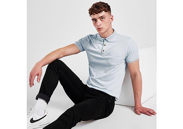 Brave Soul Pocket Polo Shirt - Blue - Mens