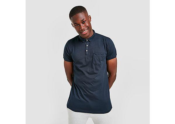 Brave Soul Pocket Polo Shirt - Navy - Mens