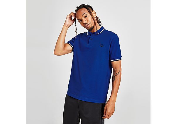 Fred Perry Twin Tipped Polo Shirt - Blue - Mens