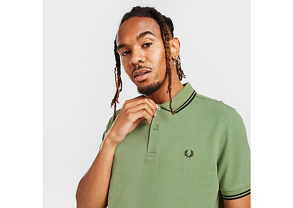 Fred Perry Twin Tipped Polo Shirt - Green - Mens