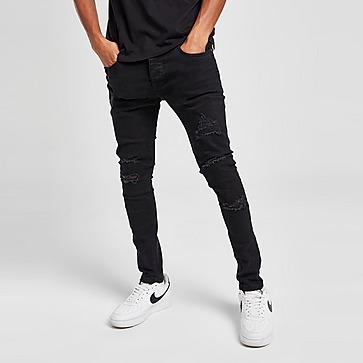 Brave Soul Skinny Heavy Rip Jeans