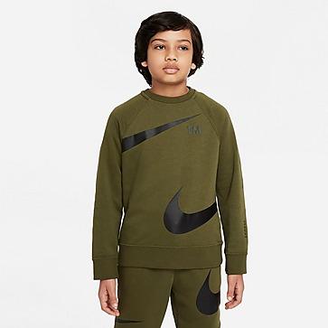 Nike Fleece Swoosh Crew Sweatshirt Junior