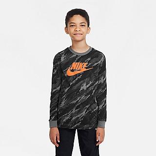 Nike All-Over Print Camo Long Sleeve T-Shirt Junior
