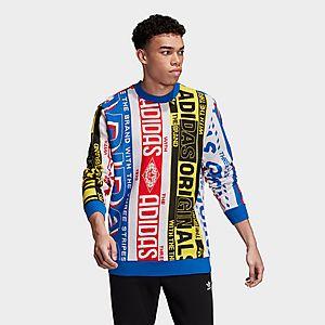 adidas Originals Knit Scarf Crewneck Sweatshirt