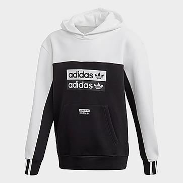 adidas Big Kids Originals Trefoil Hoodie, BlackWhite, M