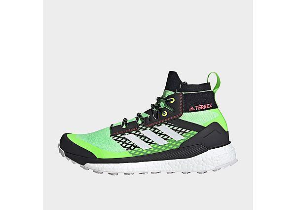 adidas Terrex Free Hiker Hiking Shoes - Signal Green - Mens