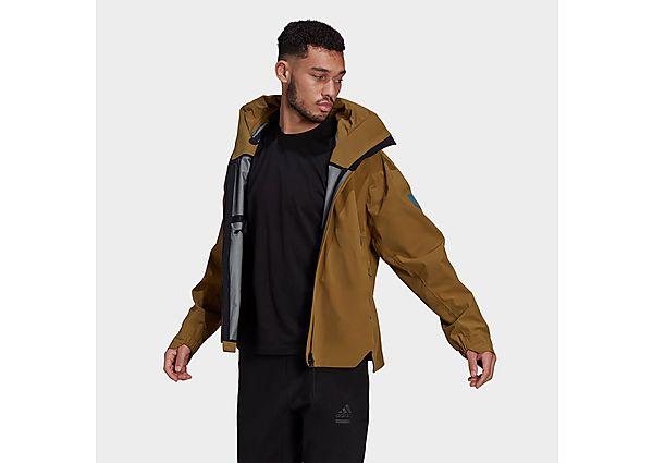 adidas MYSHELTER Rain Jacket - Brown Malt - Mens