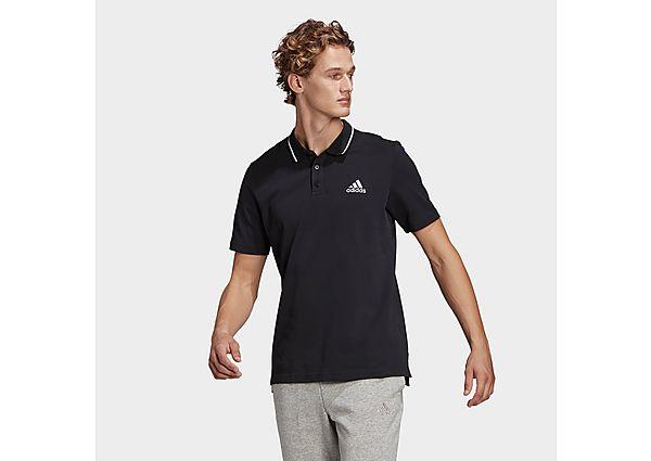adidas AEROREADY Essentials Piqué Small Logo Polo Shirt - Black - Mens