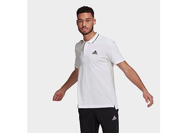 adidas AEROREADY Essentials Piqué Small Logo Polo Shirt - White - Mens
