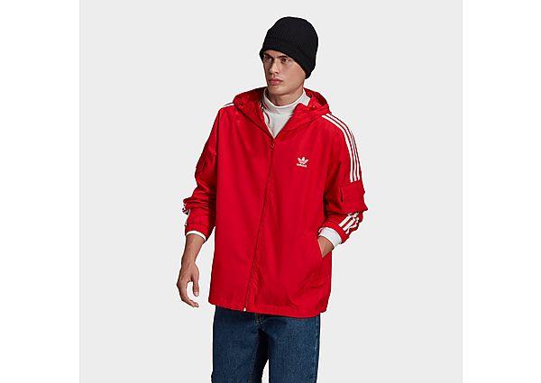 adidas Originals Adicolor Classics 3-Stripes Full-Zip Windbreaker - Scarlet - Mens
