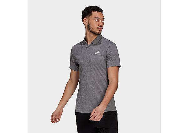 adidas HEAT.RDY Tennis Polo Shirt - Grey Three - Mens