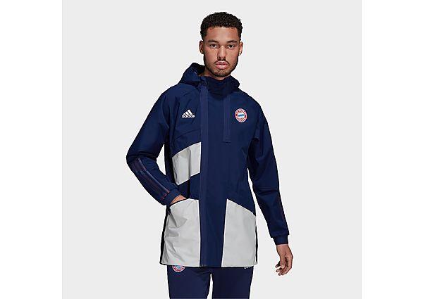 adidas FC Bayern Travel Drill Jacket - Dark Blue