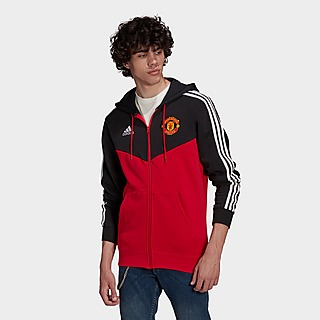 adidas Manchester United 3-Stripes Full-Zip Hoodie