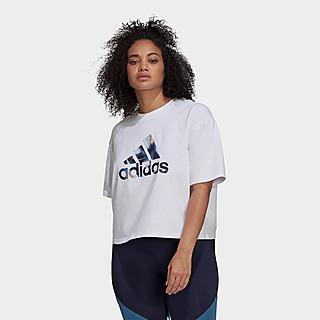 adidas U4U Crop Logo T-Shirt (Plus Size)