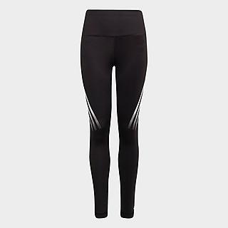 adidas Girls' Fitness TechFit 3-Stripes Tights Junior