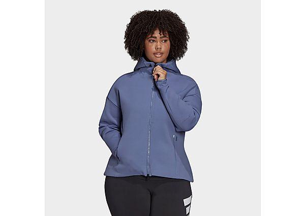 adidas Z.N.E. Sportswear Hoodie (Plus Size) - Orbit Violet - Womens