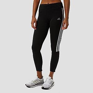 Joggingbroek Dames Met Rits.Adidas 3 Stripes Sporttight Zwart Dames