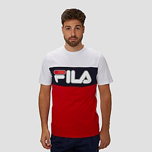 74a69316730 FILA OLLA COLORBLOCK SHIRT WIT/ROOD HEREN