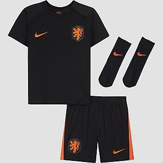 NIKE UEFA EURO 2020/2021 KNVB NEDERLAND BREATHE UITTENUE 20/22 BABY ZWART/ORANJE KINDEREN