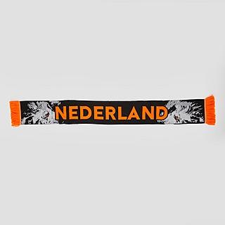 MERK KNVB NEDERLAND LEEUW SJAAL ZWART/ORANJE