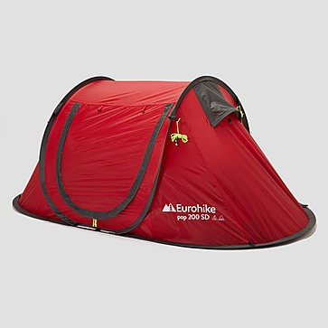 EUROHIKE POP-UP 200 SD 2-PERSOONS TENT ROOD