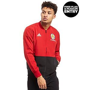 2018 2019 Real Madrid Adidas Knitted Presentation Jacket (Dark Grey)