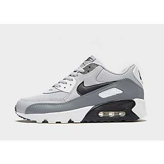 nike black air max 90 leather trainers junior
