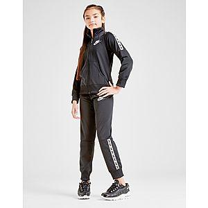 timeless design db8b9 42846 Nike Girls  Poly Tape Tracksuit Junior ...