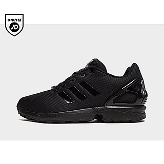 Infants adidas Originals ZX Flux El Trainer Black UK 6k