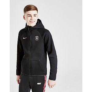 buy popular cd0c2 90466 Nike Paris Saint Germain Tech Fleece Hoodie Junior ...