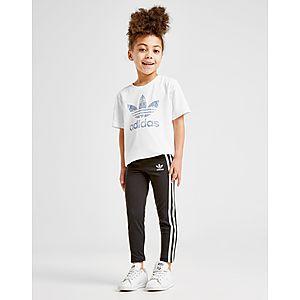 c7874c306 ... adidas Originals Girls  Trefoil 3-Stripes Leggings Children