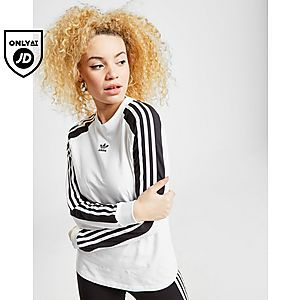 bec2a25e2f adidas Originals 3-Stripes Panel Long Sleeve T-Shirt ...