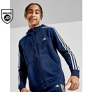 fa5d8856 adidas Badge of Sport 3-Stripes Full Zip Hoodie Junior ...