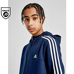 273c19da ... adidas Badge of Sport 3-Stripes Full Zip Hoodie Junior