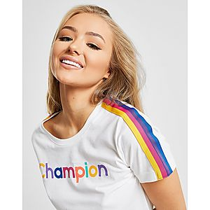 cbc9dccc ... Champion Rainbow Stripe T-Shirt