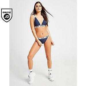 c07ae254fda Fila Tape Logo Bikini Bottoms Fila Tape Logo Bikini Bottoms