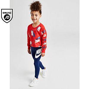 2616a2ba3f Nike Girls' Shine Print Crew/Leggings Set Children ...