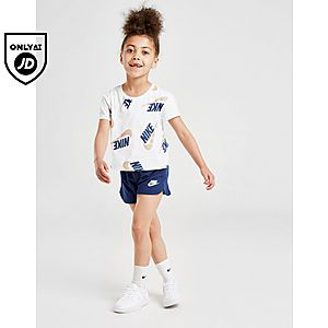 566ba07e05 Nike Girls' Shine Print T-Shirt/Shorts Set Children