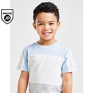 size 40 3d161 d1095 ... adidas Originals Spirit Colour Block T-Shirt Shorts Set Children