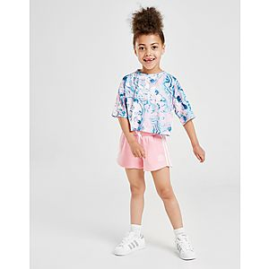 9252bb14f adidas Originals Girls  Marble T-Shirt Short Set Children ...
