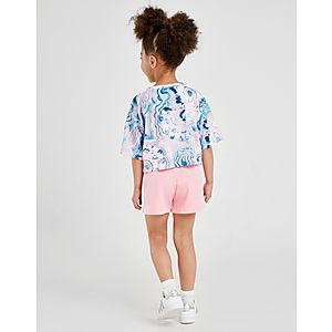 3889a6a9eb7ab ... adidas Originals Girls' Marble T-Shirt/Short Set Children