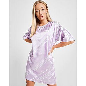 f0711452798 adidas Originals All Over Print Satin T-Shirt Dress ...
