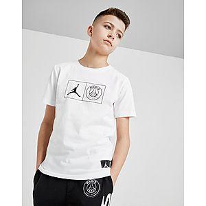 premium selection 366d3 75087 Jordan x Paris Saint Germain Jock Tag T-Shirt Junior ...