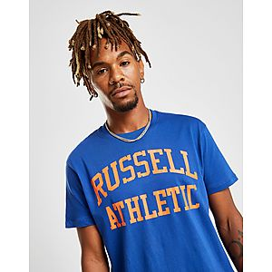 16cec328 ... Russell Athletic Arch Logo Short Sleeve T-Shirt