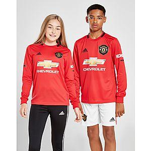 8c2b97661c5 adidas Manchester United 19/20 LS Home Shirt Jr ...