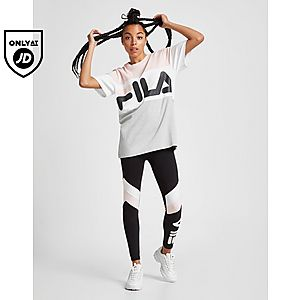 cf3f6d56ae3d Fila Colour Block Boyfriend T-Shirt ...