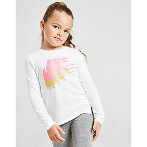 ff2a6741b9 Nike Girls' Long Sleeve Futura T-Shirt Children