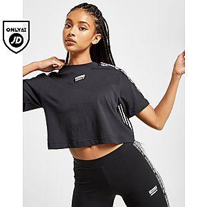f09560a9d3d7 adidas Originals Crop Tape T-shirt ...
