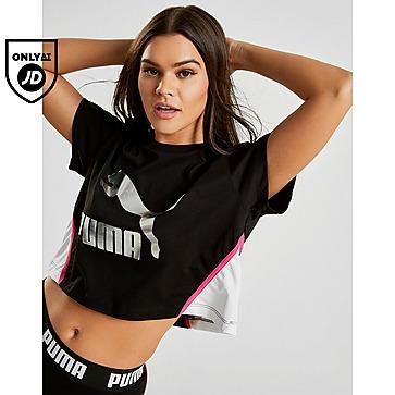 dolor de muelas Adiccion algodón  Black Puma Tops - Crop | JD Sports