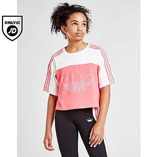 adidas Originals Kids 3 Stripes Crop Long Sleeve (Little